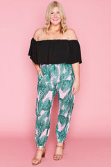 Kara Pink Palms Pants
