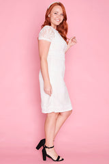 Beatrice White Lace Dress