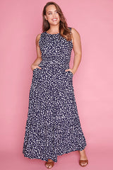 Laura Navy Spots Dress