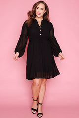 Jacinta Black Dress