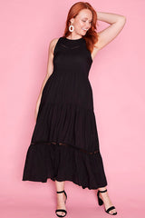 Zebina Black Dress