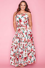 Adventures White Floral Maxi Dress