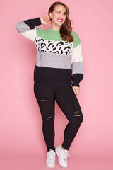 Kitty Mint Leopard Knit