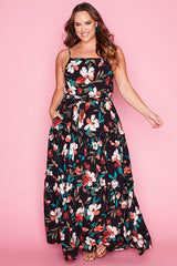 Adventures Black Floral Maxi Dress