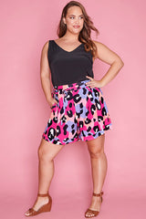 Natalie Bright Animal Shorts