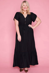 Bonnie Black Maxi Dress