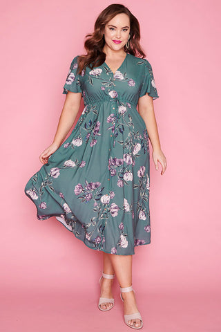 Marley Green Floral Dress