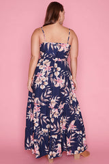 Glenda Navy Floral Maxi Dress