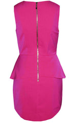 Fairy Floss Pink Peplum Dress