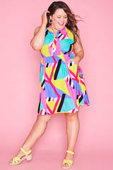 Oscar Geo Rainbow Dress