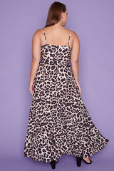 Glenda Leopard Print Maxi Dress