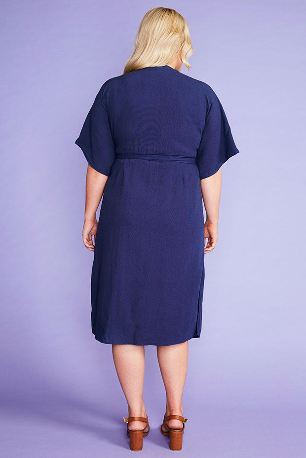 Elaine Navy Dress