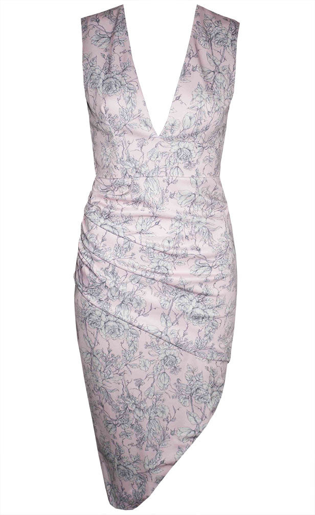 New York Pink Floral Dress