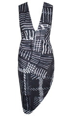 New York Black Print Dress