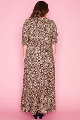 Adeline Leopard Print Maxi Dress