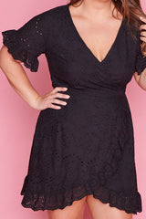 Fresh Air Black Wrap Dress