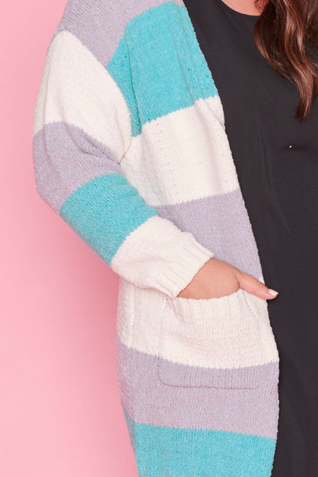 Switch Blue Stripe Cardi