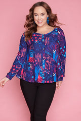 Arizona Folded Fauna Blouse