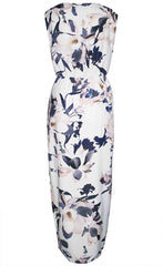 Hideaway Peach Floral Maxi Dress