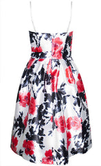 Forever Red Floral Dress