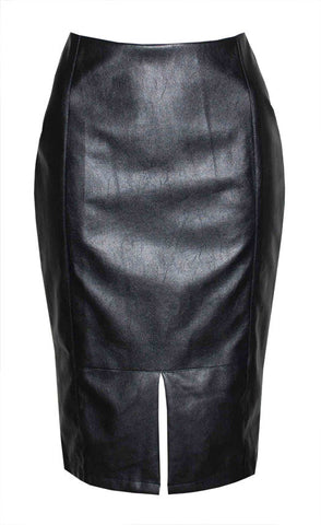 Karolina Black Pencil Skirt