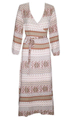 Promises Aztec Wrap Dress