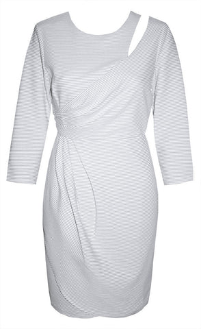 Pursue White Pinstripe Dress