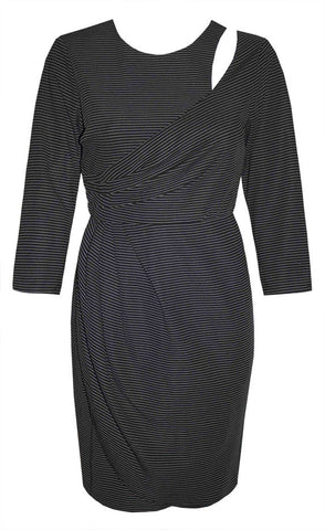 Pursue Black Pinstripe Dress