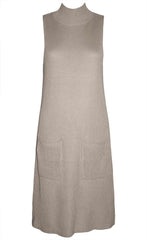 Bobbie Taupe Knit Dress
