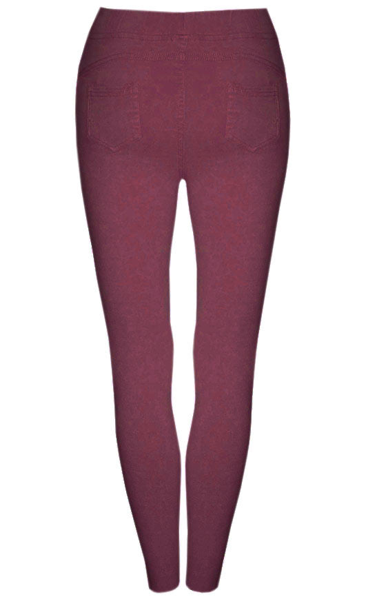 Riptide Burgundy Jeggings