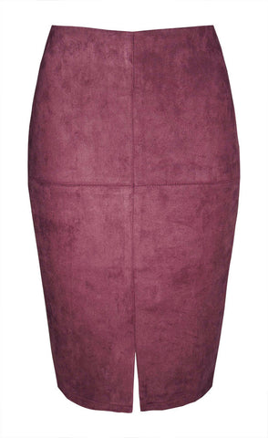 Chicago Burgundy Pencil Skirt