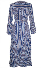 Sadie Navy Print Wrap Dress