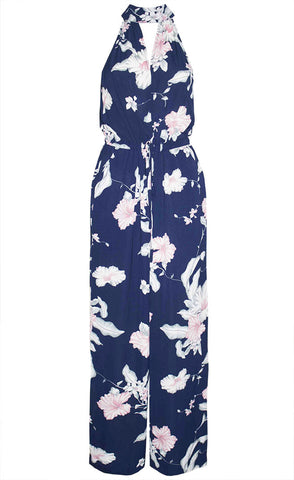Vamp Navy Tropical Jumpsuit