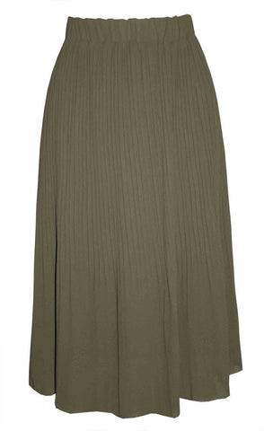 Willow Khaki Midi Skirt
