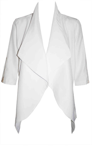 Cleo White Waterfall Jacket
