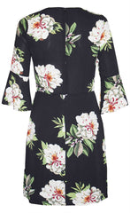 Radiant Black Floral Dress