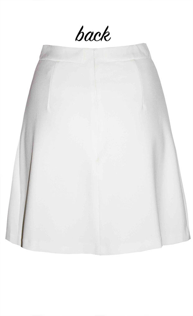 Twiggy White Skirt