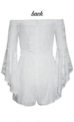 Shae White Lace Playsuit