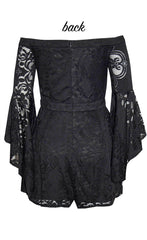 Shae Black Lace Playsuit