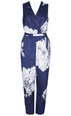 Bella Navy Floral Jumpsuit