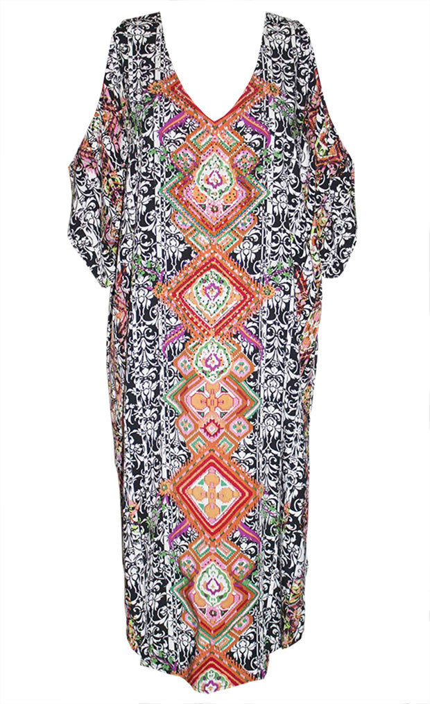 Sundown Pink Print Kaftan