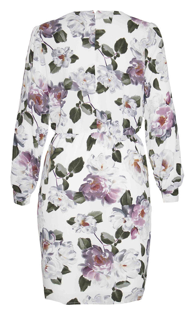 Renee White Floral Dress