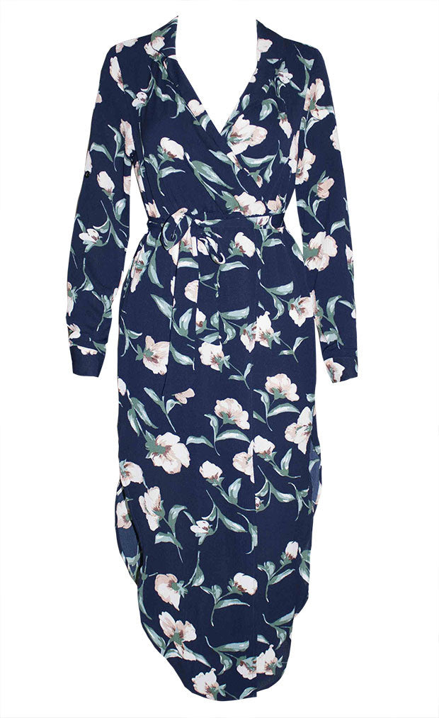 Claudia Navy Floral Dress