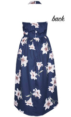 Kelsey Navy Floral Dress