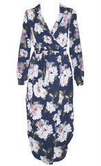 Claudia Purple Floral Dress