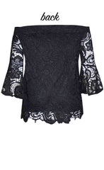 Heavenly Black Lace Top