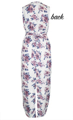Jodie White Print Dress