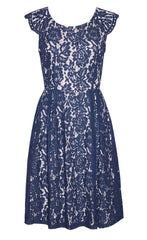 Sally Navy Lace Dress
