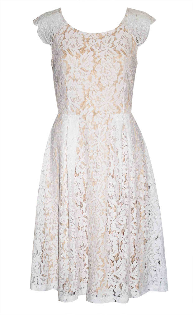 Sally White Lace Dress