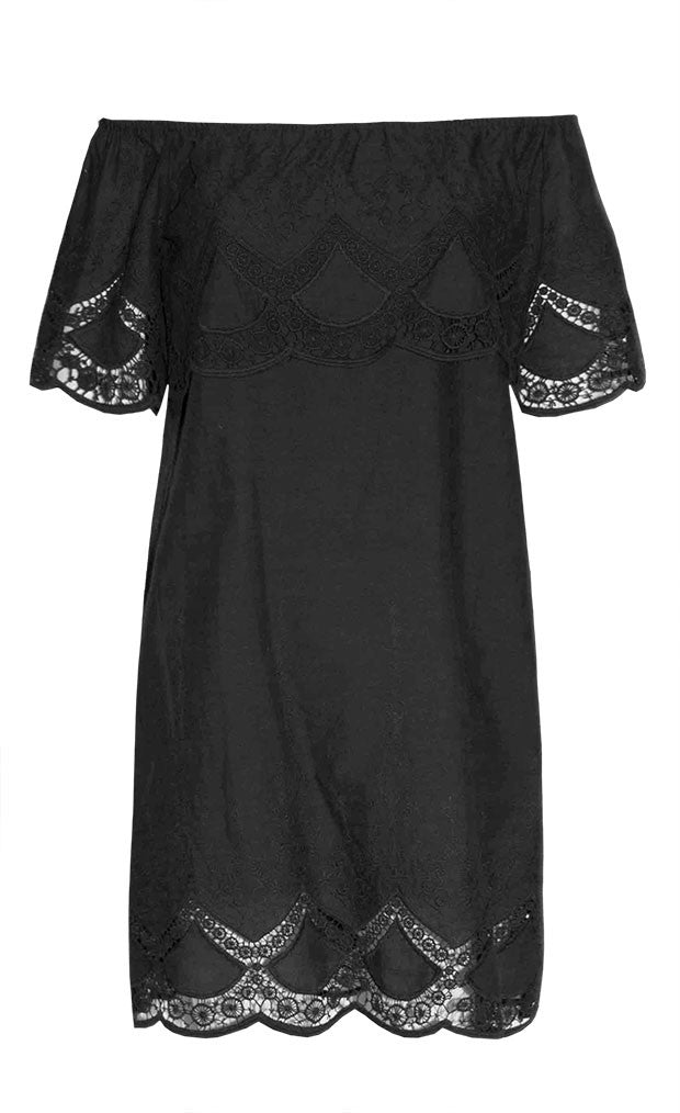 Polly Black Lace Dress